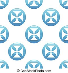 Maltese cross sign pattern - Vector round sign with maltese...