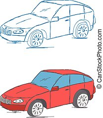 Car Vehicle Scribble Vector