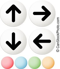 Arrow icon, buttons Arrows up, down, left, right