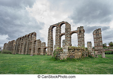 Aqueduct of the Miracles in Merida, Spain, UNESCO - Wide...