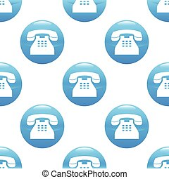 Old phone sign pattern - Round sign with image of an old...