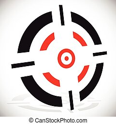 Crosshair, reticle vector graphics Eps 10 vector