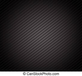 Carbon fiber background with parallel, slanting lines. Dark,...