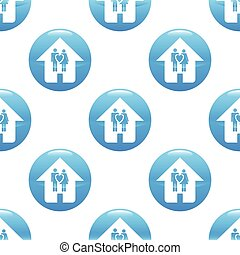 Couple in house sign pattern