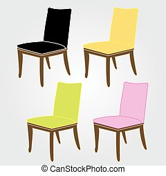 Graphic of a dining chair