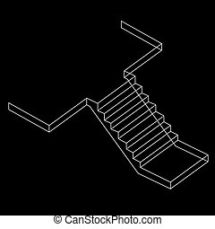 Drawing of a RCC stair - Drawing of a Reinforced Cement...