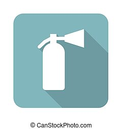 Fire extinguisher icon - Vector square icon with image of...