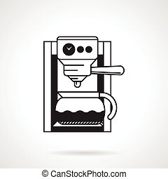 Coffee machine black vector icon - Black vector icon for...