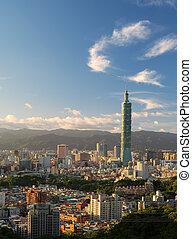 Sunset city scenes of skyline in Taipei - Sunset city scenes...