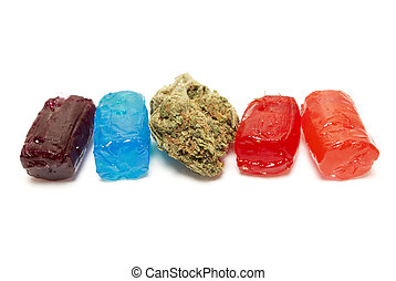 Marijuana THC Candy - Marijuana and Cannabis Bud and THC...