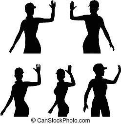 Hello ! Or Bye! - Vector Image - Hello ! Or Bye! isolated on...