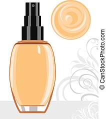 Liquid foundation cream Vector illustration
