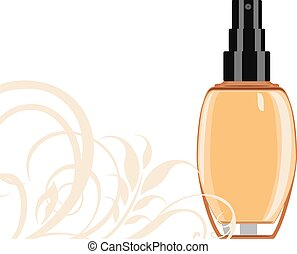 Cosmetic liquid foundation cream Vector illustration