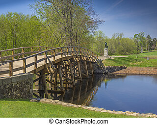 Old north bridge, Concord, MA. USA