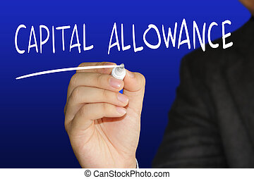 Capital Allowance - Business concept image of a businessman...