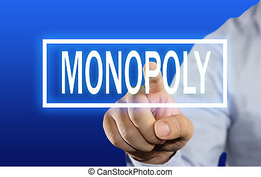 Monopoly Concept - Business concept image of a businessman...