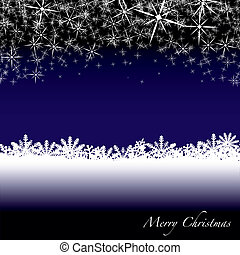 christmas snow drift - Blue and white christmas scene with...