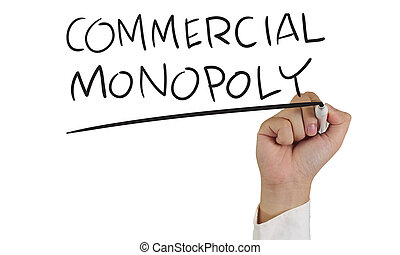 Commercial Monopoly - Business concept image of a hand...