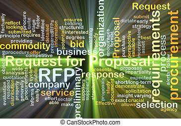 Request for proposal RFP background concept glowing -...