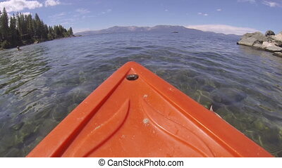Kayak POV Adventure - A kayak point of view POV rowing...