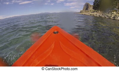 Kayak POV Adventure, Wet Lens - A kayak point of view (POV)...