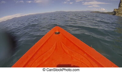 Kayak POV Adventure on the Lake - A kayak point of view POV...