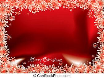 christmas red flake