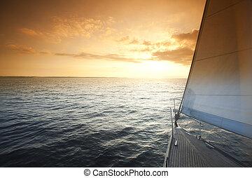 Seascape, verão, saturado, coloridos, tema,