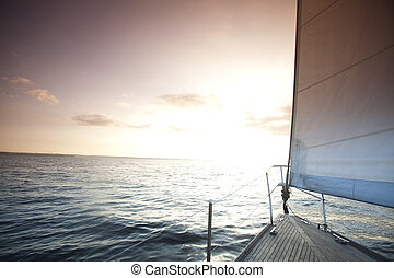 Sailing in the open sea
