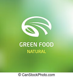 Green food. logo