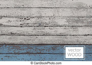 Vector wood plank background. Gray and blue