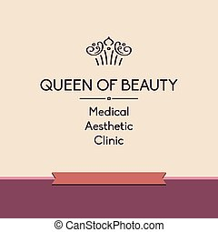 Queen of beauty. Logo for aesthetic medicine clinic -...