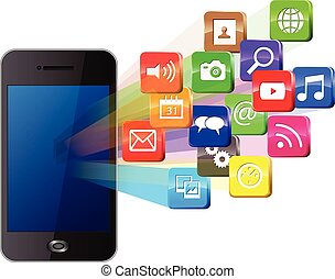 Touchscreen and social media - Touchscreen smartphone with...