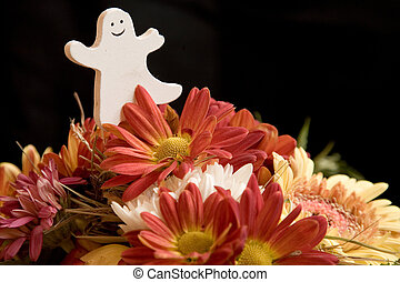 ghost in flowers - colorful flowers