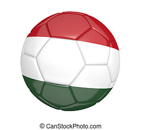Soccer ball with flag of Hungary - Soccer ball, or football,...