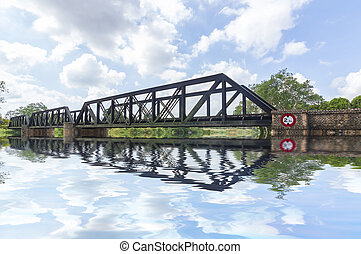 Railway bridge - Old railway bridge and reflection