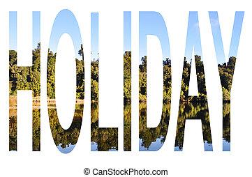 Holiday - Tree reflection
