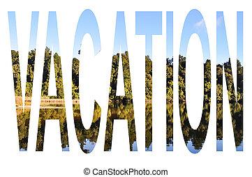 Vacation - Tree reflection