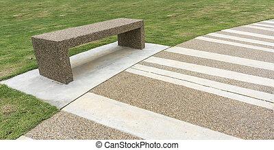 Walkway - Bench at pedestrian walkway