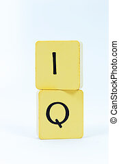 IQ block with white background