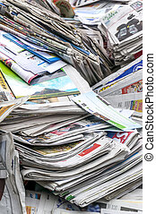 Recycle - A stack of old newspaper for recycle