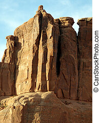 Hard Rock - Sheer rock formations in Arches National Park