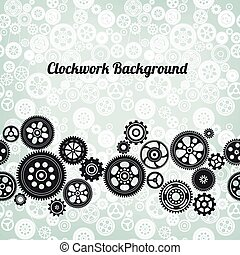 mechanism background with cogwheels and gears, vector...