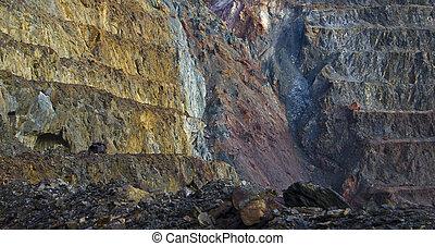 otwarty, dół, kopalnia