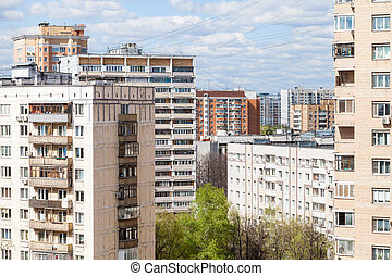 urban residential district in sunny day