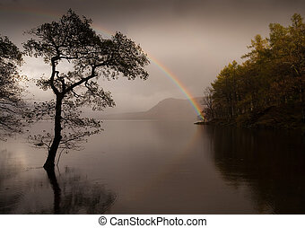 Rainbow at Derwent Water - Beautiful rainbow at Derwent...