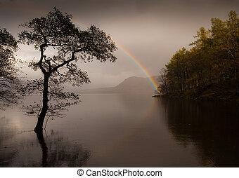 Rainbow at Derwent Water - Beautiful rainbow at Derwent...