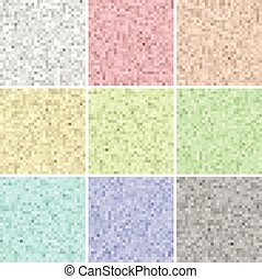 Pixel set colorful textures and backgrounds - Pixel art set...