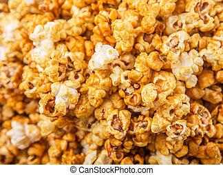Caramel Popcorn - Caramel popcorn close up view