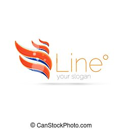 Abstract wave line logo